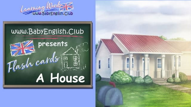 Flash Cards House and Verb Point