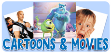 Cartoons and movies for children