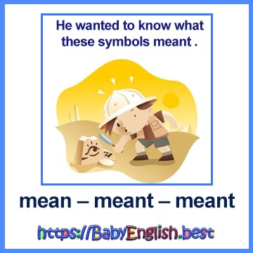 mean – meant – meant