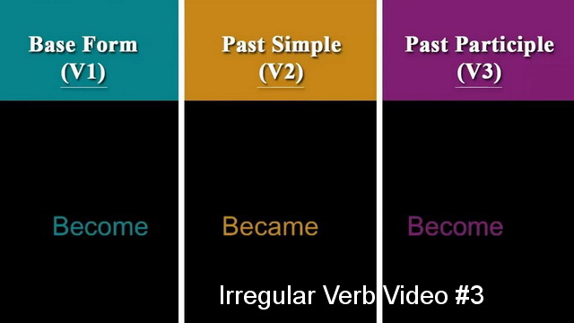 Irregular Verb Video #3