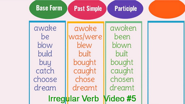 Irregular Verb Video #5